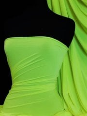 Silk Touch 4 Way Stretch Lycra Fabric- Neon Green Q53 NGRN