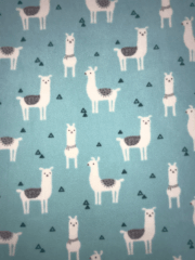 Polar Fleece Anti Pill Washable Soft Fabric- Llama Glama SQ352 MNT