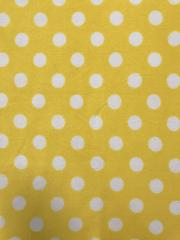 Polar Fleece Anti Pill Washable Soft Fabric- Giant Polka Dots (Yellow) SQ356 YLWHT