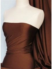 Shiny Lycra 4 Way Stretch Material- Ginger Brown Q54 GBR