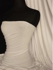 Viscose Cotton Stretch Lycra Fabric- Cream Q300 CRM