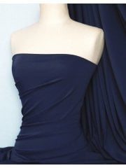 Matt Lycra 4 Way Stretch Fabric- Navy Q56 NY