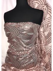 Showtime Sequins Dress/Dance Fabric- Rose Gold Gatsby SEQ70 RSGD