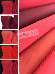 25 METRES Silk Touch 4 Way Stretch Lycra Fabric Wholesale Roll- Red Shades JBL333