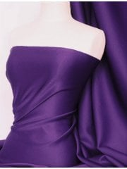 Scuba 4 Way Stretch Poly Lycra Fabric- Grape Purple Q792 GRPL