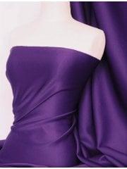 Scuba 4 Way Stretch Poly Lycra Fabric- Grape Purple Q792 GRPL