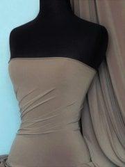 Soft Touch 4 Way Stretch Lycra Fabric- Ash Brown Q36 ASH