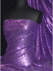 Showtime Fabric All Over Stitched 3mm Sequins - Purple SEQ53 PPL