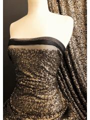 Showtime Sequins Dress/Dance Net Fabric- Golden Goddess SEQ77 BKGD