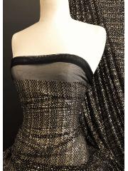 Showtime Sequins Dress/Dance Net Fabric- Milano Sparkle SEQ78 BKGD