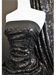 Showtime Dress/Dance Lycra Fabric- Cirque Du Sequins SEQ79 BK