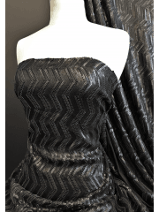 Showtime Dress/Dance Heavy Weight Sequins Lycra Fabric- Chanel Matte 3D SEQ80 BK