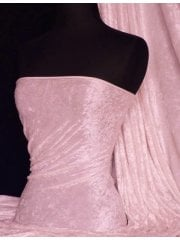 Crushed Velvet/Velour Stretch Material- Baby Pink Q156 BPN