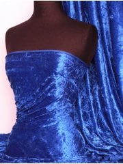 Crushed Velvet/Velour Stretch Material- Electric Blue Q156 ELCBL