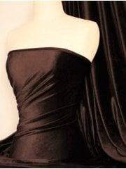 Micro Velvet Velour Fabric Luxuriously Soft Velvet- Brown MVEL22 BR