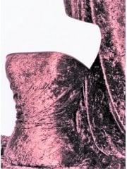 Marble Texture Velvet Lycra Stretch Fabric- Mauve SQ388 MVE