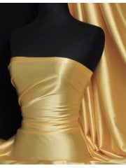 Super Soft Satin Fabric- Mellow Yellow Q710 MYL