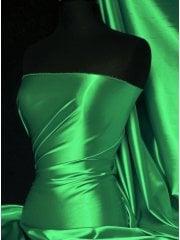 Super Soft Satin Fabric- Leaf Green Q710 LFGR
