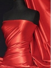 Super Soft Satin Fabric- Tomato Red Q710 TMRD