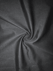 Semi Sheen Stretch Fabric (117cms)- Black SQ387 BK