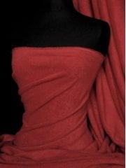 NEW Super Soft Polar Fleece Anti Pill Washable Fabric- Deep Red PF DPRD