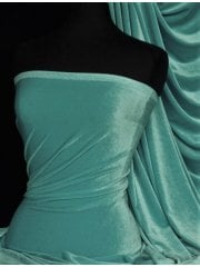 Velvet/Velour 4 Way Stretch Spandex Lycra- Duck Egg Blue Q559 DUBL