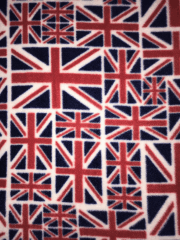 Polar Fleece Anti Pill Washable Soft Fabric- Union Jack SQ398 NYRD