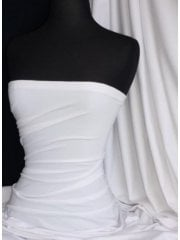 25 METRES Luxe Cotton Lycra Jersey 4 Way Stretch Soft Fabric Wholesale Roll- White JBL343 WHT