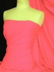 Matt Lycra 4 Way Stretch Fabric- Neon Pink Q56 NPN