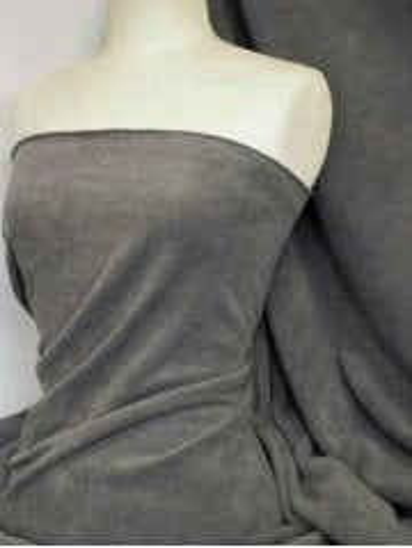 15 METRES Clearance Super Soft Polar Fleece Anti Pill Washable Fabric- Dark Cloud Grey CLPF DCGR