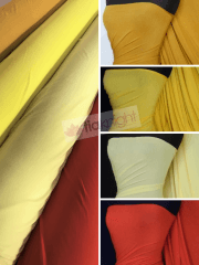 25 METRES Viscose Cotton Stretch Lycra Fabric Wholesale Roll- Orange/Yellow Shades JBL366