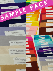 40 SAMPLE PACK- Shiny Lycra 4 Way Stretch Material Q54
