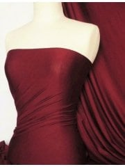 Silk Touch 4 Way Stretch Lycra Fabric- Red Wine Q53 RDWN