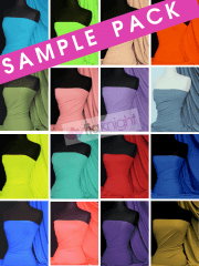 46 SAMPLE PACK- Matt Lycra 4 Way Stretch Material Q56