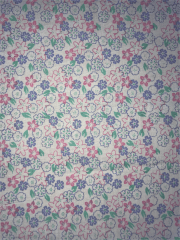Cotton Poplin Non-Stretch Material- Honolulu Florals Pink/Lilac Q1416 PNMLT