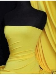 Clearance Shiny Lycra 4 Way Stretch Material- Yellow Q54 YL