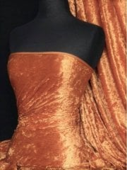 Crushed Velvet/Velour Stretch Material- Burnt Orange Q156 BNOR