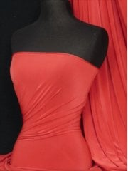 Silk Touch 4 Way Stretch Lycra Fabric- Tomato Red Q53 TRD