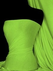 Viscose Cotton Stretch Lycra Fabric- Neon Green Q300 NGR