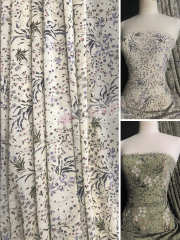 Chiffon Soft Touch Sheer Fabric- Floral Field CHF260