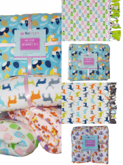No-Sew DIY Double-Sided Fleece Blanket Kit