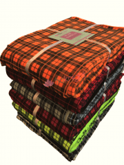 No-Sew DIY Double-Sided Tartan Fleece Blanket Kit