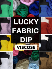 12 PIECES Lucky Dip Fabric Bundle- Viscose Stretch Dressmaking Fabric