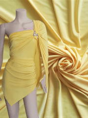 Silk Touch 4 Way Stretch Lycra Fabric- Canary Yellow Q53 CYL