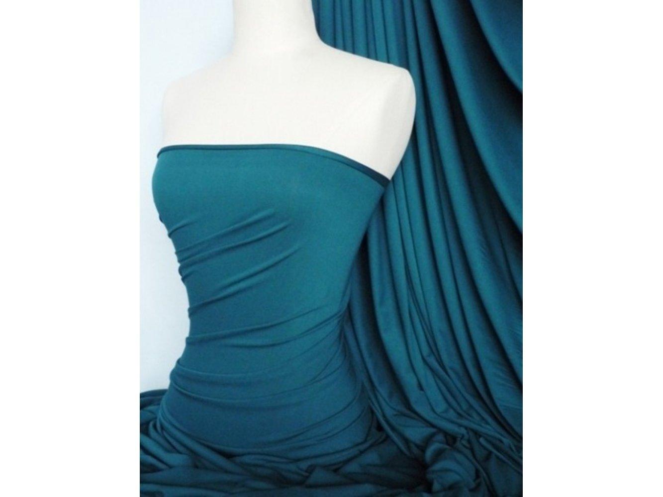 Viscose Cotton Stretch Lycra Fabric- Teal Q300 TL