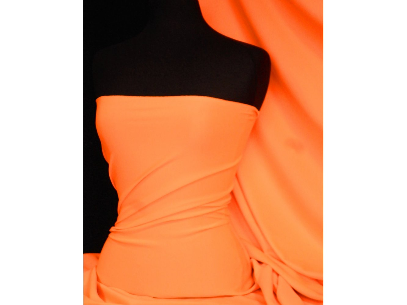 Fluorescent Orange Scuba 4-way stretch Poly Lycra Fabric//Material