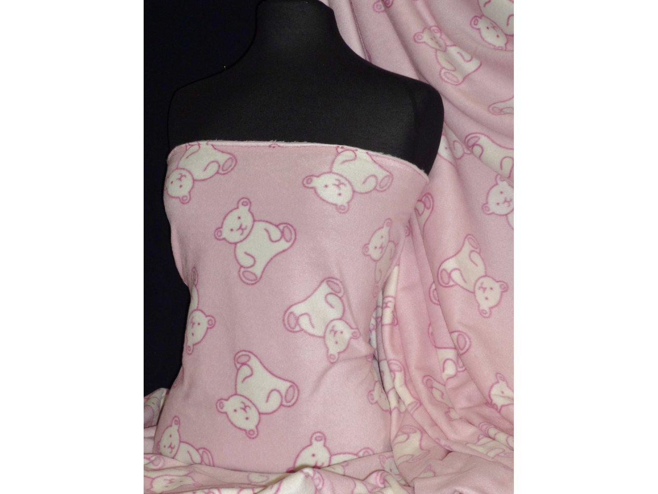 Pink Camouflage Polar Fleece- Anti Pill Washable Soft Fabric