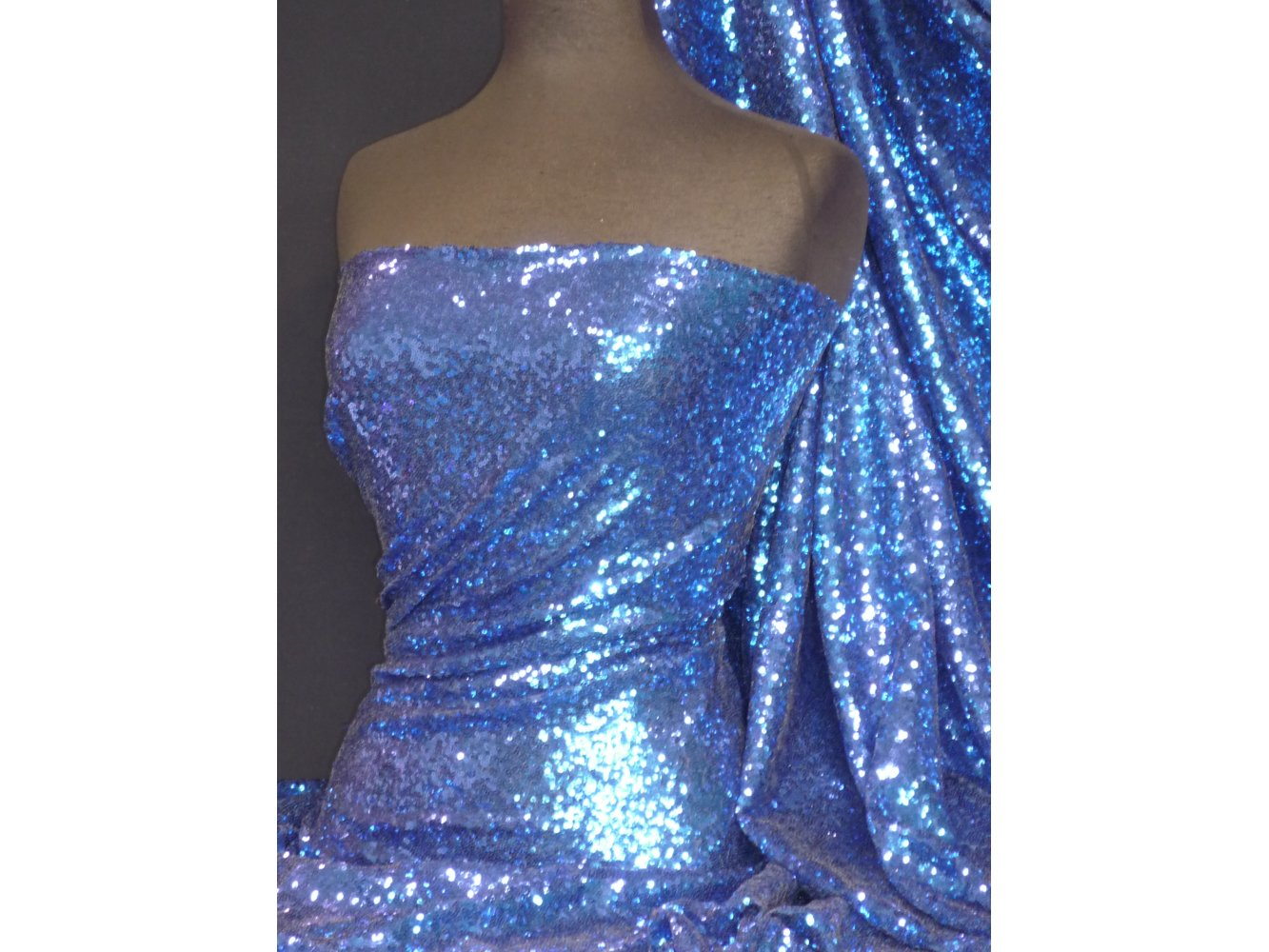 1cc1ab28 Showtime Fabric All Over Stitched 3mm Sequins - Royal Blue SEQ53 RBL