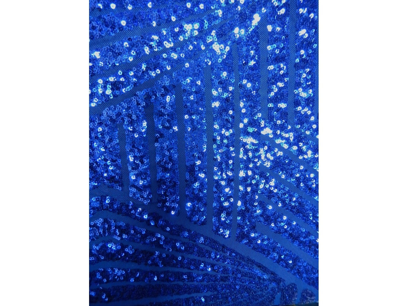 9628bc4a Showtime Fabric All Over Stitched 3mm Sequins - Electra Blue Stripes SEQ55  EBL