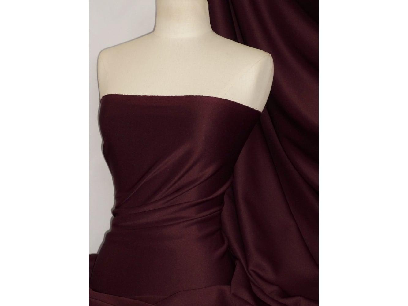 Scuba Stretch Poly Lycra Fabric- Beige Q792 BGE